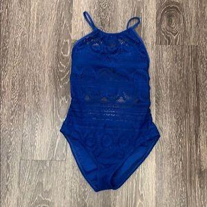 Lacey Fishnet Swimsuit